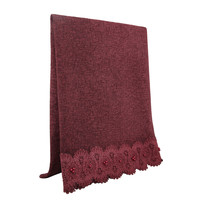 SCARF LACE & PEARL BURGUNDY