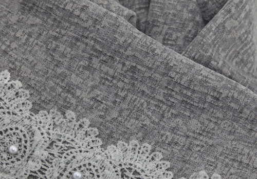 BEAUX JOURS SCARF LACE & PEARL GREY