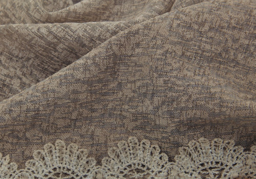BEAUX JOURS SCARF LACE & PEARL TAUPE