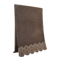 SCARF LACE & PEARL TAUPE