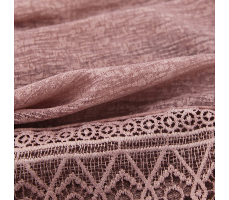 SCARF LACE ANTIQUE PINK