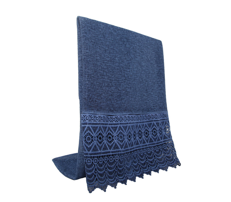 SCARF LACE BLUE