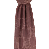 SCARF CHECKERS ANTIQUE PINK