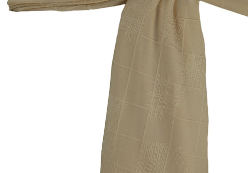 BEAUX JOURS SCARF CHECKERS IVORY