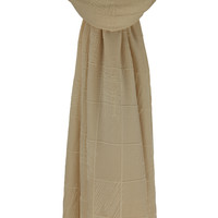 SCARF CHECKERS IVORY