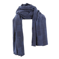 SCARF CHECKERS NAVY