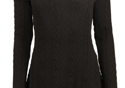 BEAUX JOURS KNITTED DRESS BLACK