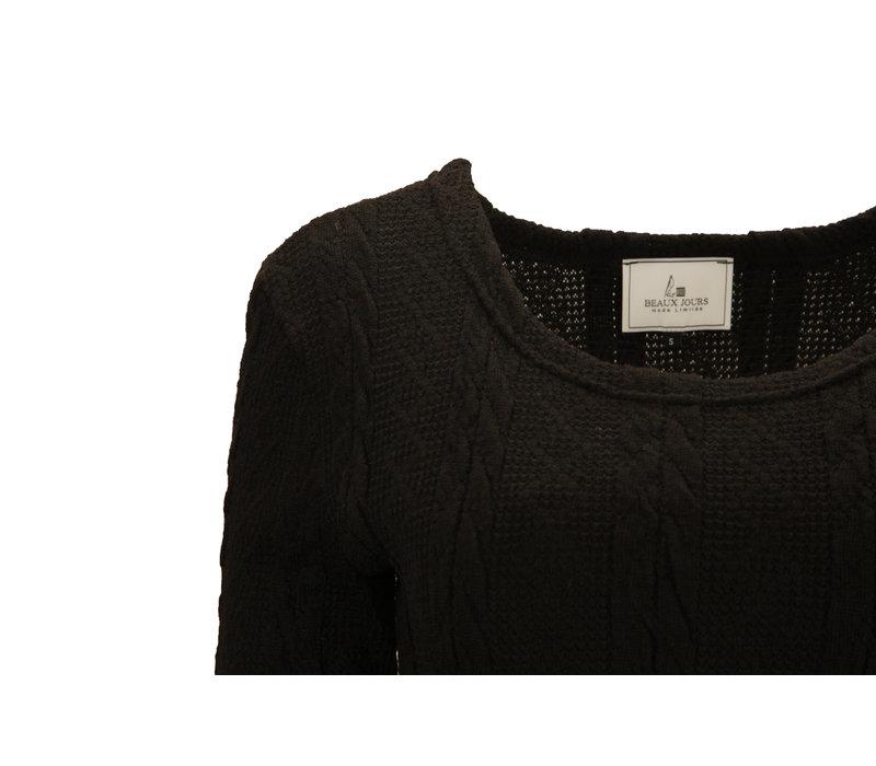 KNITTED DRESS BLACK
