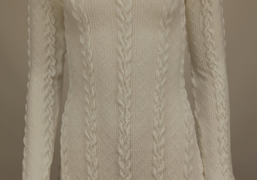 BEAUX JOURS KNITTED DRESS WHITE
