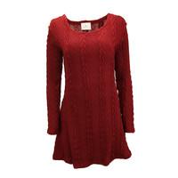 KNITTED DRESS BURGUNDY