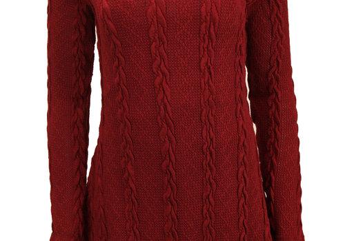 BEAUX JOURS KNITTED DRESS BURGUNDY