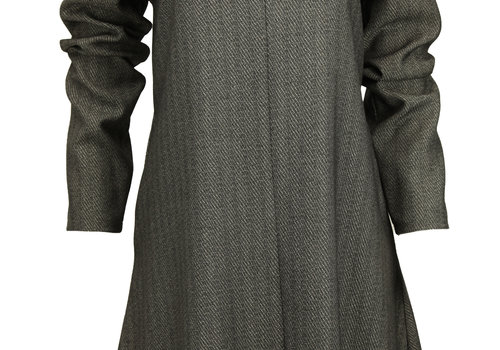 BEAUX JOURS STRIPED TUNIC CHARCOAL