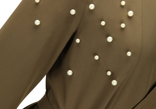 BEAUX JOURS PEARL ABAYA ARMY GREEN