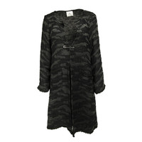 UNLINED COAT CAMOUFLAGE PEARL BLACK
