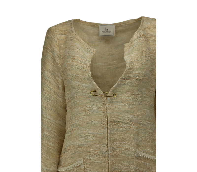 UNLINED COAT CAMOUFLAGE PEARL IVORY