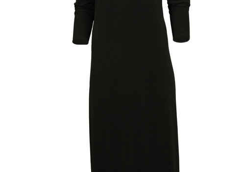 BEAUX JOURS JERSEY MAXI DRESS BLACK