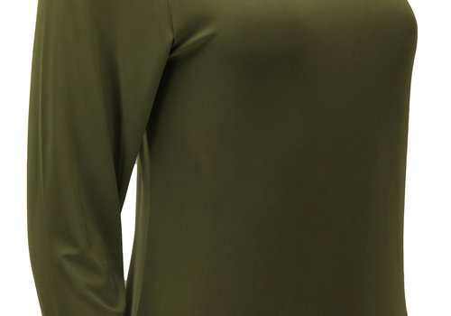 BEAUX JOURS JERSEY MAXI DRESS OLIVE