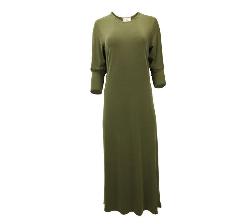 JERSEY MAXI DRESS OLIVE