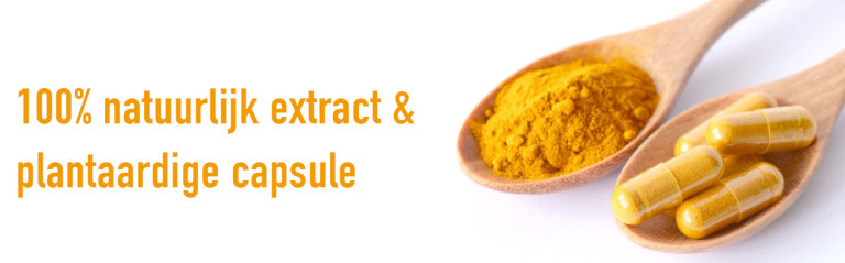 kurkuma capsules natuurlijk vitaminbottle