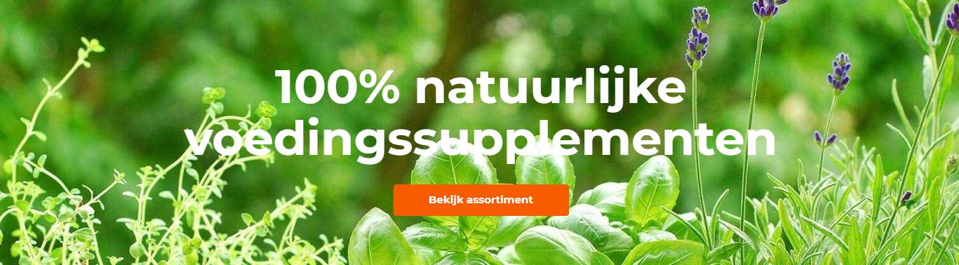100% natuurlijke supplementen