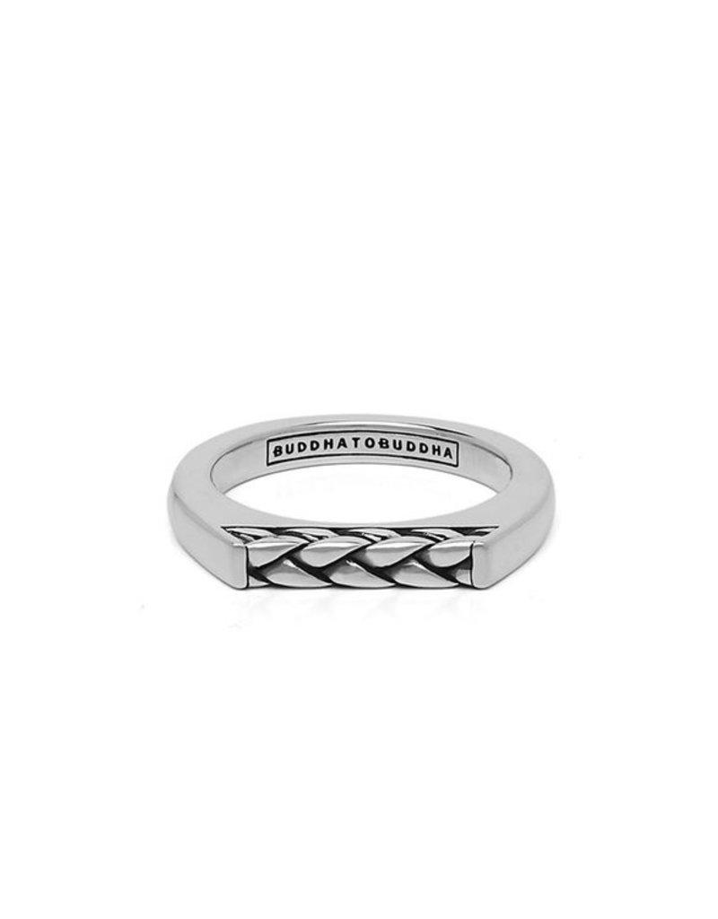 Buddha to Buddha 925 Sterling Zilveren Ring Tangguh Signet George 054 Maat 17