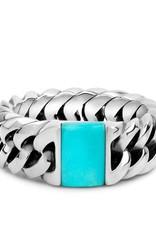 Buddha to Buddha 925 Sterling Zilveren 603tq 18 Chain Stone Turquoise Ring