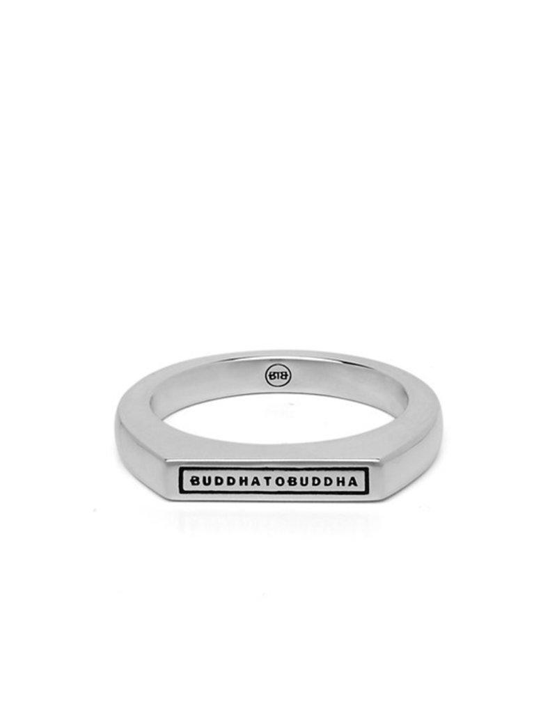 Buddha to Buddha 925 Sterling Zilveren 055 19 Tangguh Signet Logo Ring