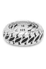 Buddha to Buddha 925 Sterling Zilveren 490bl  Ben Special Black Ring 19