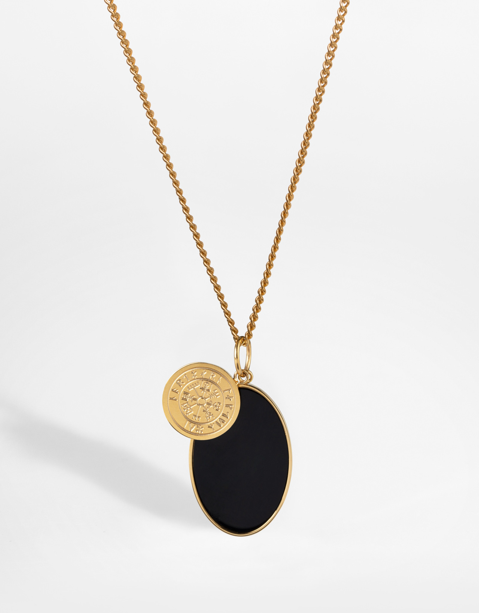 Northern Legacy nl vigvisir/onxy necklace - gold