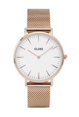 Cluse Boho Chic Mesh White, Rose Gold Colour