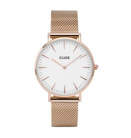 Cluse Boho Chic Mesh White, Rose Gold Colour