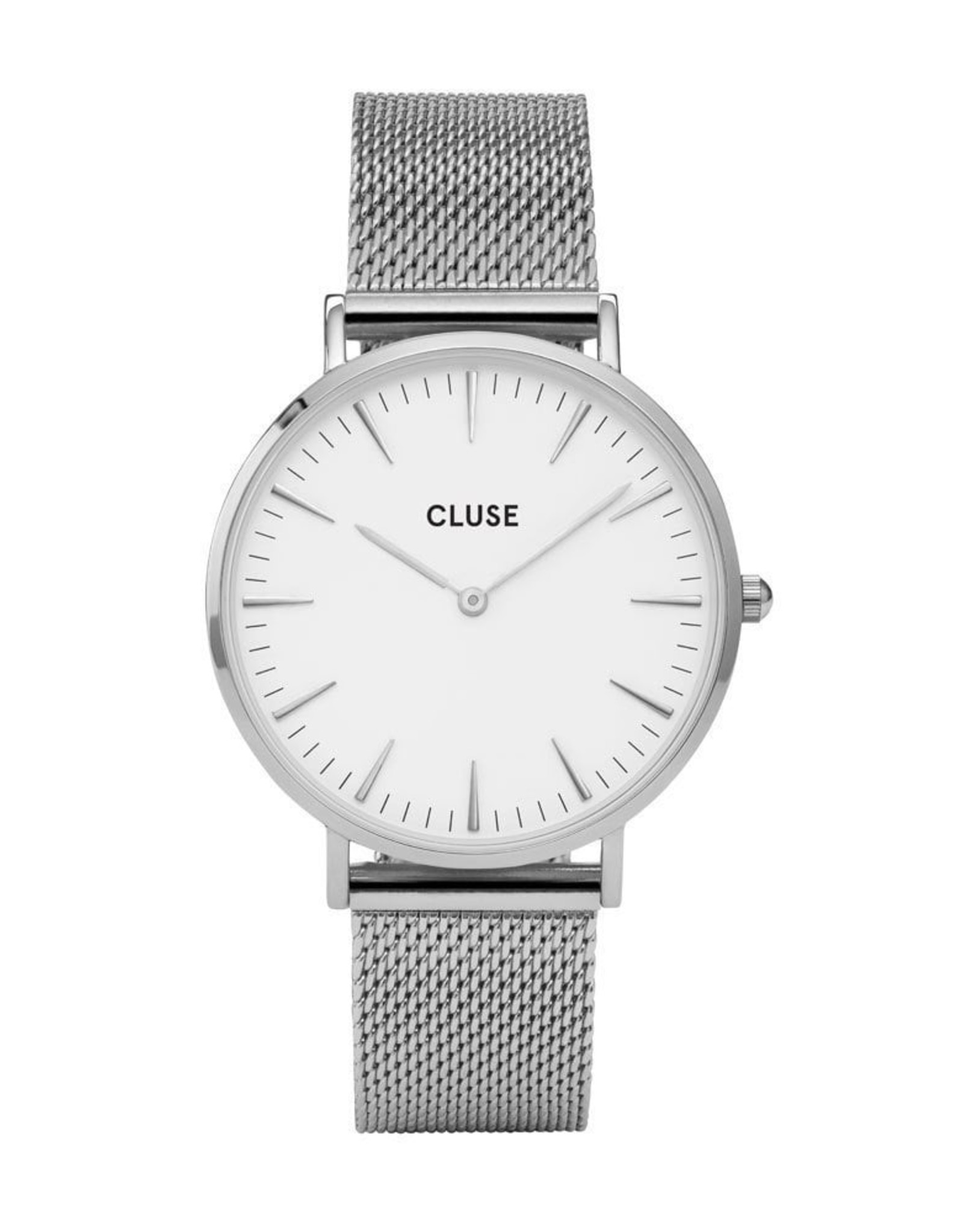 Cluse La Bohème Mesh, Silver, White/Silver