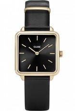 Cluse La Tétragone Leather Black, Gold Colour
