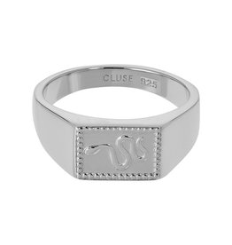 Cluse Force Tropicale Ring Signet Rectangular Silver 52