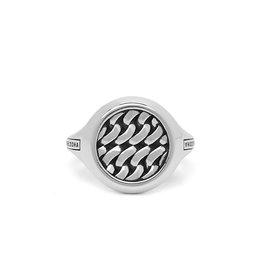 Buddha to Buddha 925 Sterling Zilveren 052 19 Tangguh Signet Chain Ring