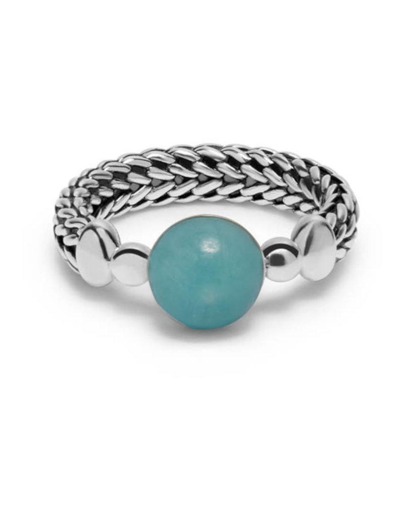 Buddha to Buddha 925 Sterling Zilveren 004GR Refined Batas Sphere Ring 19