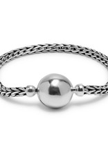 Buddha to Buddha 925 Sterling Zilveren Refined Batas Sphere Armband 19cm