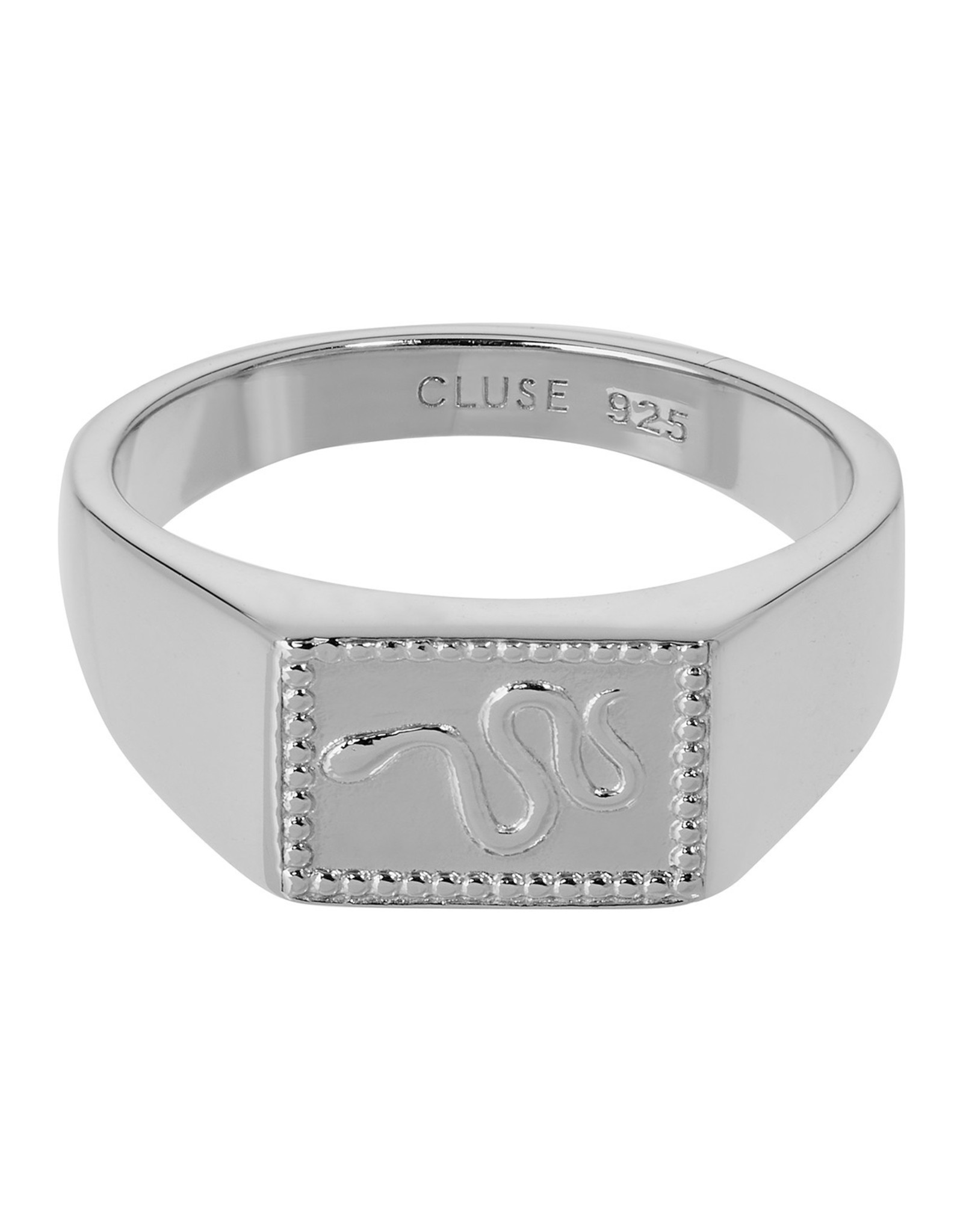 Cluse Force Tropicale Ring Signet Rectangular Silver 54