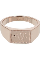 Cluse Force Tropicale Signet Rectangular Ring Rose Gold Plated 52