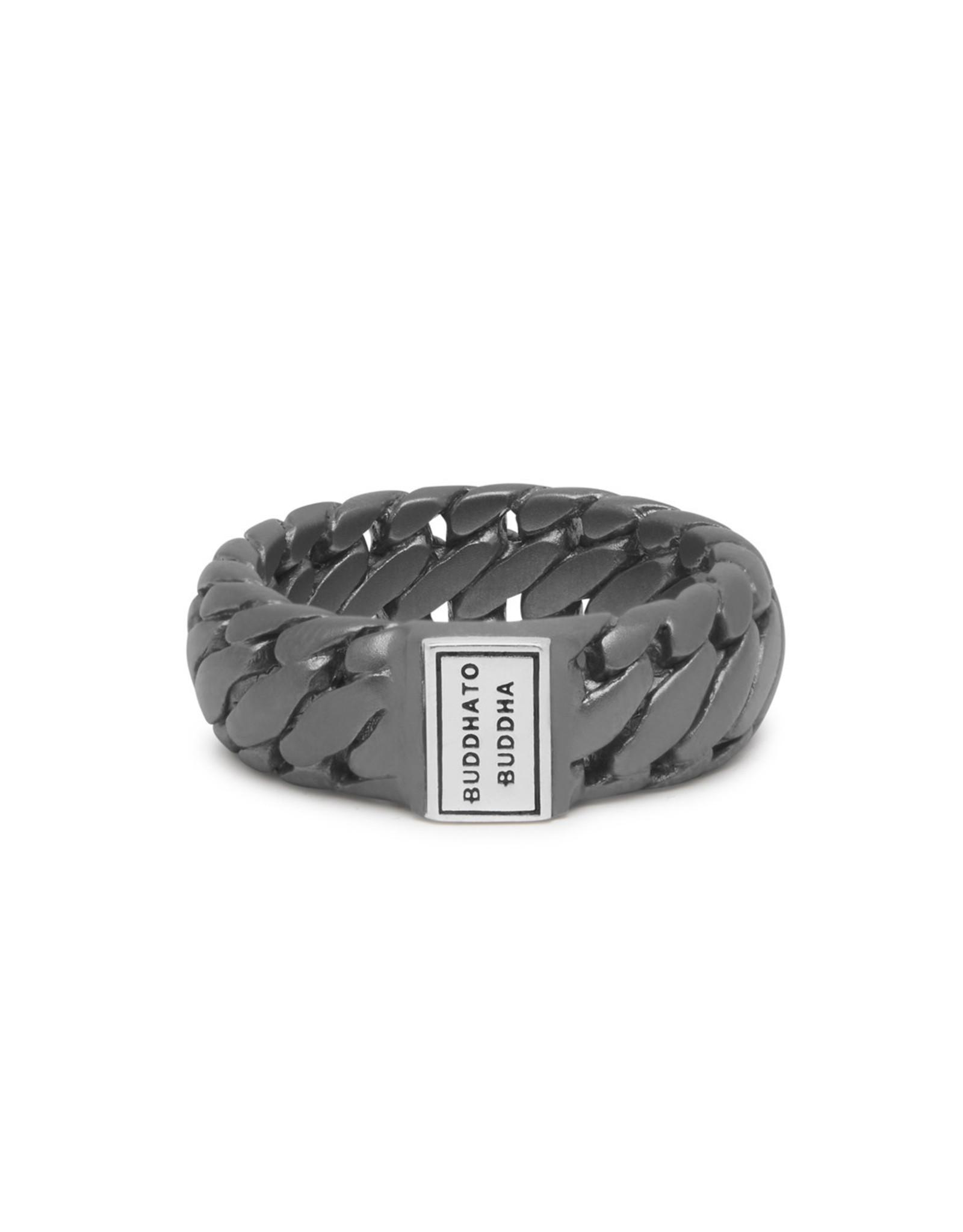 Buddha to Buddha Buddha to Buddha 925 Sterling Zilveren Black Rhodium Ben Ring 542BRS/20