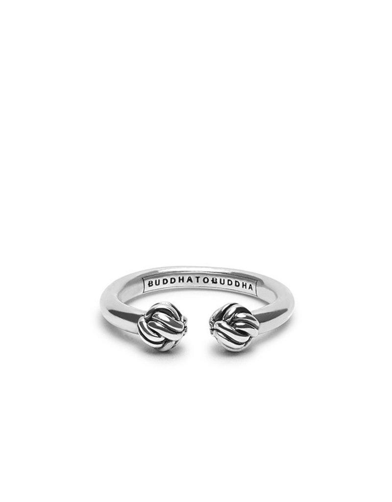 Buddha to Buddha 925 Sterling Zilveren 01 Ring Refined Katja Zilver Mert Zirconia Maat 17