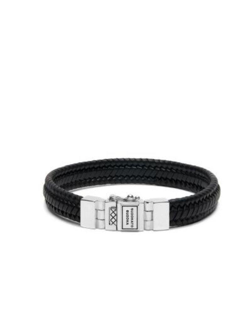 Buddha to Buddha Edwin Small Leather Bracelet Black F 21cm