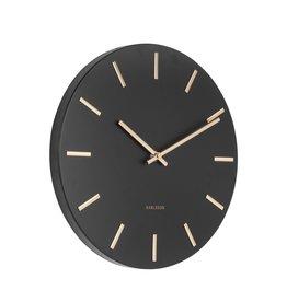 Present Time Wall Clock Charm Steel Black