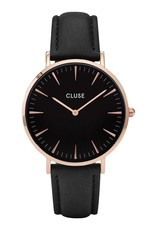 Cluse Boho Chic Leather Black, Rose Gold Colour