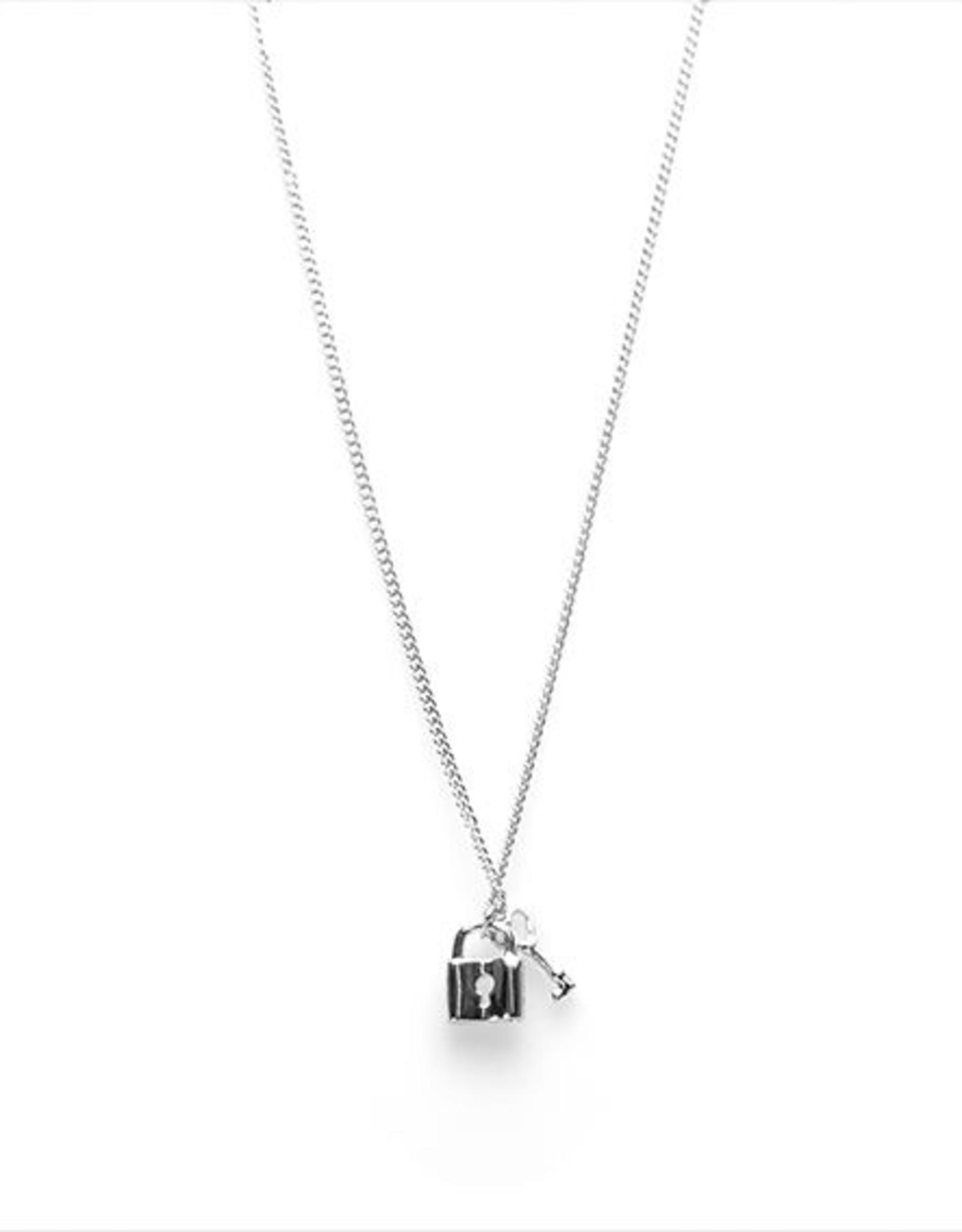 Karma Necklace Key Lock Silver