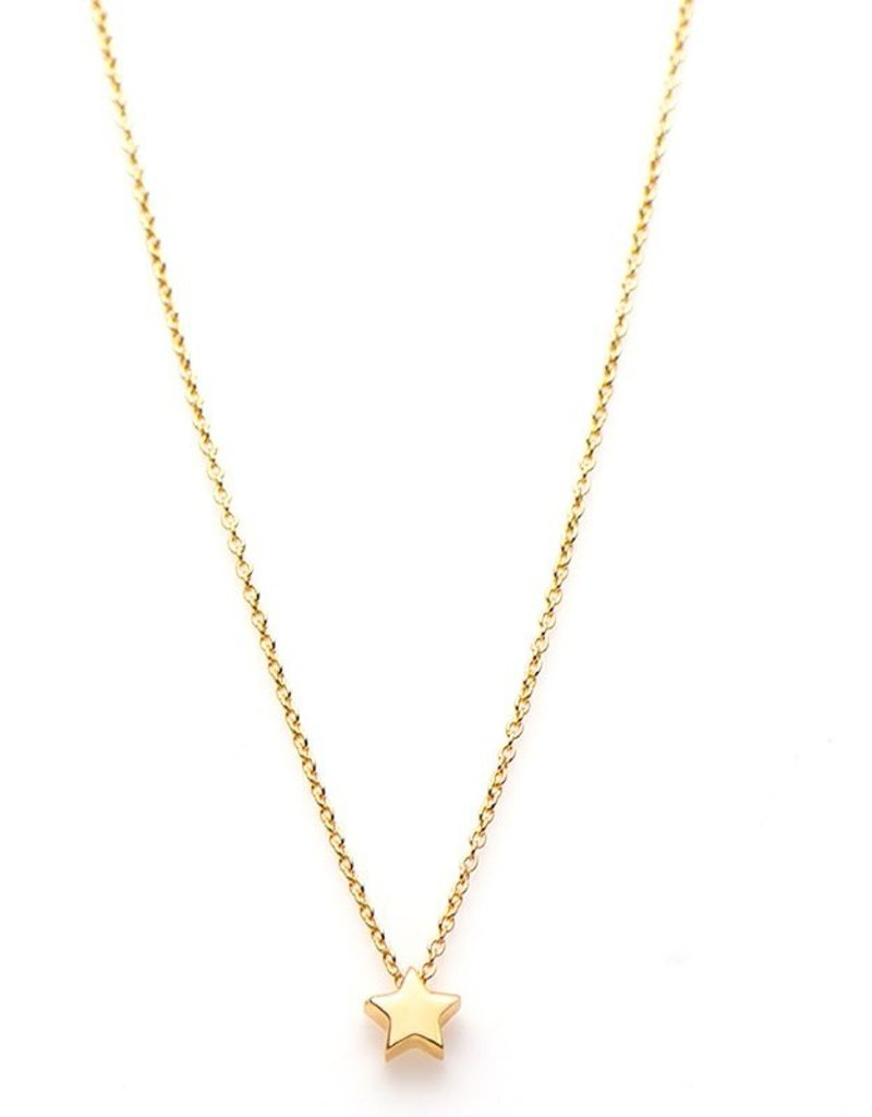 Karma Necklace Star Goldplated