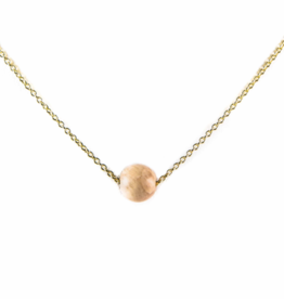 Karma Necklace Golplated White Pink Moonstone nb