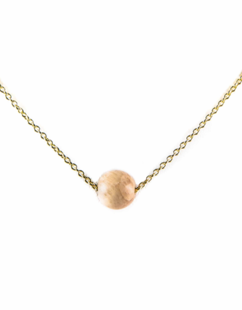 Karma Necklace Golplated White Pink Moonstone nb