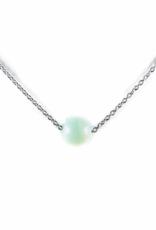 Karma Necklace Amazonite nb silver