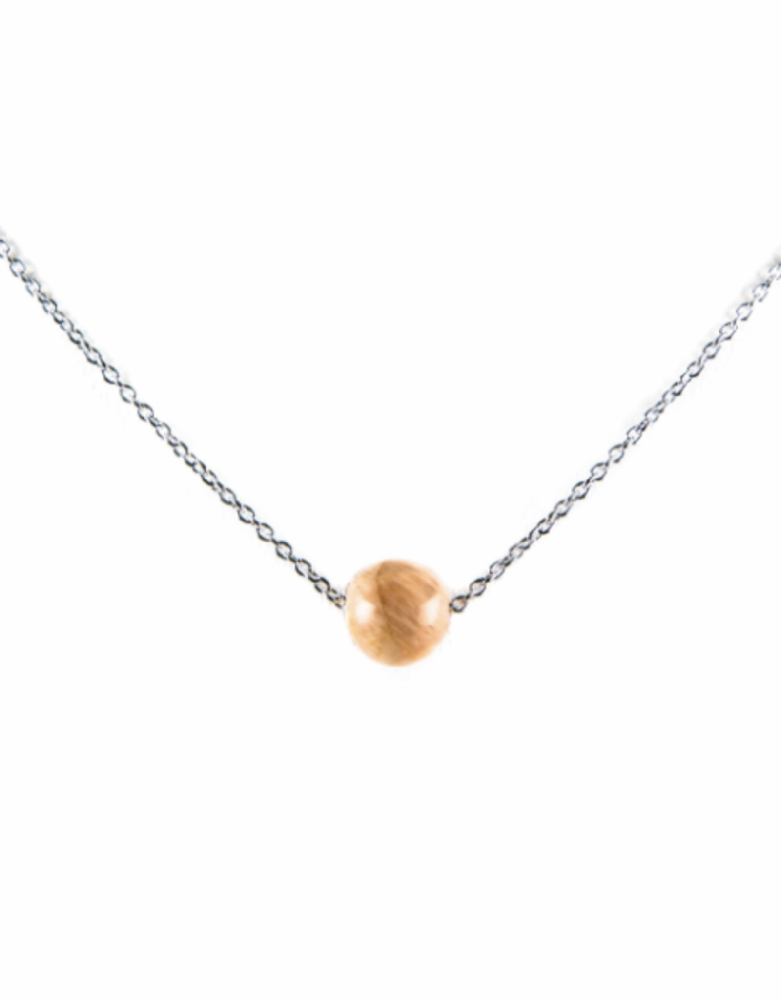 Karma Necklace Pink Moonstone nb silver